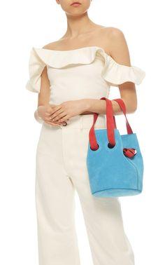 Goodall Suede Bucket Bag by TRADEMARK for Preorder on Moda Operandi