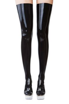 Latex stockings by BrightAndShinyLatex on Etsy https://www.etsy.com/listing/268560437/latex-stockings