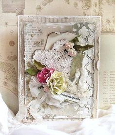 Mintun askartelujutut: Hääkortti/Wedding card - Pion Design