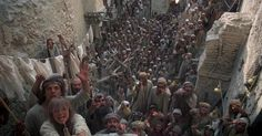 Life of Brian Terry Jones) / Cinematography by Peter Biziou Monty Python, Done Trying, Terry Jones, Michael Palin, Movie Dialogues, Raging Bull, Get Reading, Jesus Resurrection, Film Grab