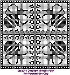 bees q grid. Bobble Crochet, Crochet Bee, Crochet Dollies, Christmas Crochet Patterns, Crochet Blanket Patterns, Baby Blanket Crochet, Knitting Patterns, Filet Crochet Charts, Crochet Stitches