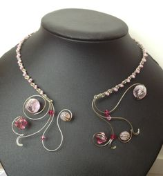 Stunning wire work necklace