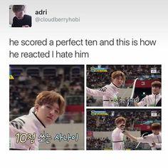I lov-.. *cough* Uh.. I hate him too.. Yeah! Wooo! ❤ #BTS #방탄소년단