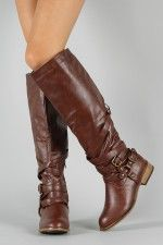 Bamboo Parksville-10 Buckle Riding Knee High Boot    @Barbara DeMartinis another gift idea : )