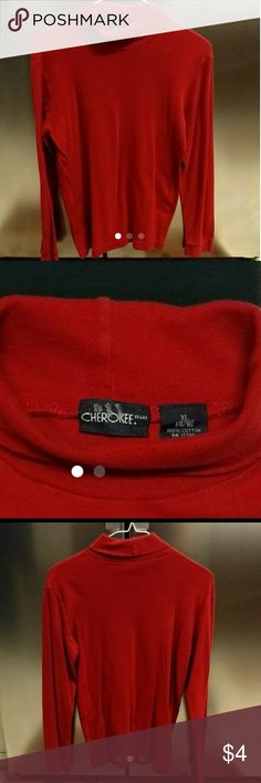 Long Sleeved Turtleneck Boy's Long Sleeve Red Turtleneck Cherokee - 14/16 XL 100% Cotton In Great Shape!  💰💸 BUNDLE & SAVE 💲 Cherokee Shirts & Tops Tees - Long Sleeve