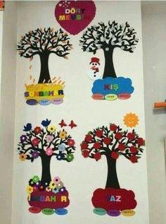 Preschool Season Charts (New) # preschool activity, # preschool art activities, # coloring pages, - - Class Decoration, School Decorations, Art For Kids, Crafts For Kids, Arts And Crafts, Classroom Posters, Classroom Decor, Preschool Art Activities, School Murals