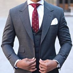 Charcoal 3 Piece & this Red Number. | : @AntonioAmbrosio.AA. #thegmi #thegentlemansinc