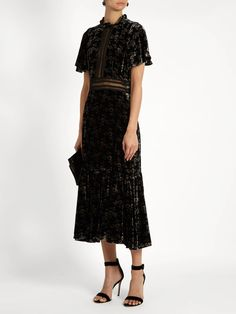 Floral-print velvet dress   Rebecca Taylor   MATCHESFASHION.COM US