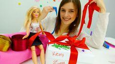 Видео для девочек про куклы Барби: подарок Кену. Детские игрушки для дев...