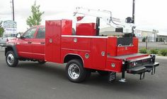 Welding rig  Sweet Red Truck