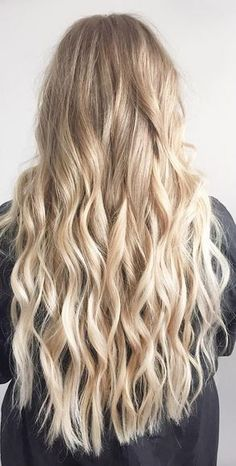 blonde babylights on long hair