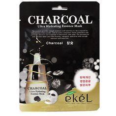 EKEL Charcoal Ultra-Hydrating Essence Facial Mask Sheet Pack 1PCS K-Beauty #EKEL