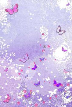 Butterflies on Purple