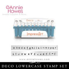 Impressart Metal Stamps - Deco Alphabet Stamp Lowercase Set 3mm