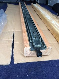 This is a detailed post on how to build heavy duty storage drawers for the rear storage in a Sprinter Van.