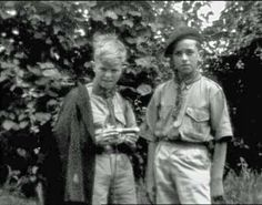 bowie in his scout uniform Embedded image permalink