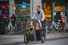 40,000 cargo bikes in the city Copenhagen. I'm guessing  about 16 total in San Diego.. where the weather is perfect pretty much year round. Go figure. Istedgade Nihola by Mikael Colville-Andersen, via Flickr