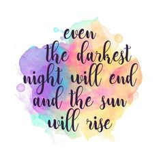 Darkest Night Art Print by byebyesally – X-Small Calligraphy Quotes Doodles, Brush Lettering Quotes, Doodle Quotes, Hand Lettering Art, Pretty Quotes, Cute Quotes, Words Quotes, Sayings, Qoutes