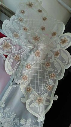 Hand Embroidery, Embroidery Patterns, Tulle, Lace Stencil, Burlap Table Runners, Table Toppers, Linen Tablecloth, Lace Making, Bargello