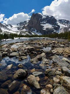 Notchtop Mountain in Spring - Rocky Mountain National Park photography by Aaron Spong