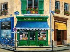 © Marilyn Dunlap painting art French Pastry Shop.