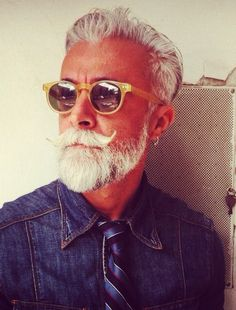Alessandro Manfredini, Fashionisto, Gray Haired Silver Fox.