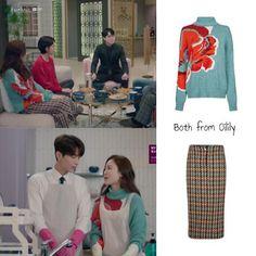 The Beauty Inside - Seo Hyun-jin - Episode 13 Star Fashion, Trendy Fashion, Fashion Beauty, Girl Fashion, Fashion Outfits, Seo Hyun Jin, Green Turtleneck, Striped Shirt Dress, Beauty Inside