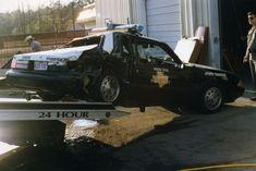 Wrecked Highway Patrol Units