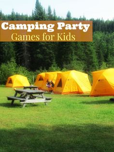Planning an outdoor party? Check out these fun camping party games for kids to keep them entertained! Perfect for large and small groups.