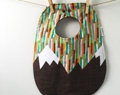 Mountain baby play mat. Handmade quilted travel blanket for a