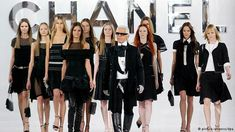 Karl Lagerfeld in the fashion show
