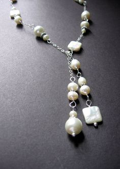 Pearl Lariat Necklace  #jewelry