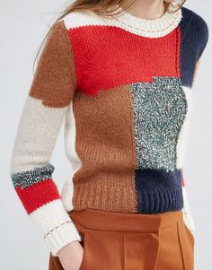 Vanessa Bruno Athé | Vanessa Bruno Athe Knitted Jumper with Patchwork