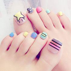 nails design 2020 white nails mimi nails nancy nails gel nail polish nail art step by step Toenail Art Designs, Nail Tip Designs, Nail Art Kit, Toe Nail Art, Feet Nail Design, Cute Toe Nails, Feet Nails, Toenails, Press On Nails