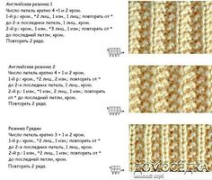 Фотография Lace Knitting Patterns, Knitting Charts, Knitting Stitches, Knitting Needles, Stitch Patterns, Pattern Books, Couture, Hobbies And Crafts, Knitted Hats