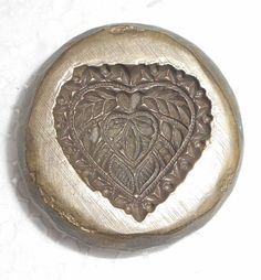 India Vintage Bronze Big die Mold/Mould hand engraved Heart designs of Indian