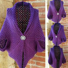 Granny shrug sweater - free pattern - Gauge is not necessary for this pattern, Yarn size/weight, and hook size is up to you. Repeat rounds as needed to reach your desired size.