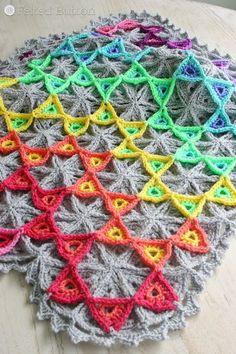 Felted Button - Colorful Crochet Patterns: Prism Blanket Crochet Pattern