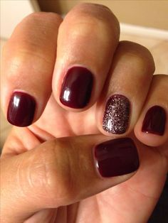 Best fall color ever! Got the blues for red-OPI GEL! Best fall color ever! Got the blues for red-OPI GEL! Love Nails, Pretty Nails, How To Do Nails, Colorful Nail Designs, Gel Nail Designs, Nails Design, Toe Nail Designs For Fall, Burgundy Nail Designs, Nagellack Trends