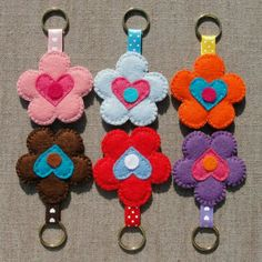 Felt key chains