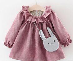 Phoebe Pink Cord Velvet Dress - PRE ORDER