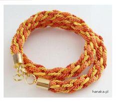 Pleciona ręcznie podwójna bransoleta- naszyjnik by HanaKa, szer ok 1- 1,5 cm, po rozwinięciu można nosić jako naszyjnik, południowe klimaty