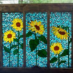 Stained Glass Mosaic Windows by SunshineGlassMosaics on Etsy Mosaic Pots, Mosaic Diy, Mosaic Garden, Mosaic Crafts, Mosaic Projects, Mosaic Wall, Mosaic Glass, Mosaic Tiles, Tiling