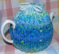 Beaded tea cosy