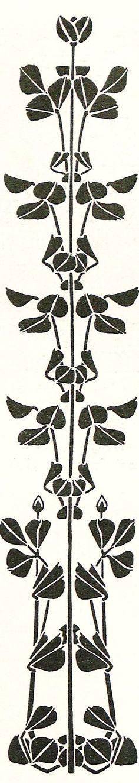 Book Ornament by Paul Roller,  from the periodical Ver Sacrum (Mittheilungen der Vereinigung Bildender Künstler Österreichs), Mai 1899, http://digi.ub.uni-heidelberg.de/diglit/vs1899/0466?sid=6769979fcdfdb312079ed23446de47be