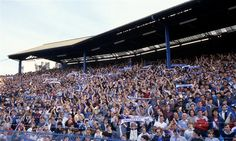 28 April 1984 / Chelsea 5-0 Leeds: CHELSEA fans in THE SHED in the game that won promotion...