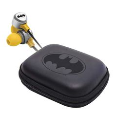 Batman Earphones & Leather Pouch Pack