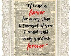 Alfred Lord Tennyson Love Quote Made on Typewriter typewriter