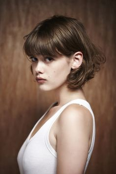mathilde warnier- medium length hair with fringe/ bangs