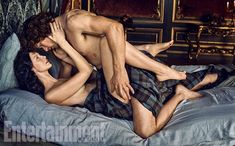 Here are new photos of Caitriona Balfe and Sam Heughan from their photoshoot with EW. There is also a photo of Tobias Menzies! See the rest of the photos after the jump! –